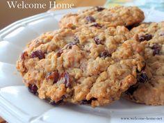 Welcome Home Blog: Chewy Oatmeal Raisin Cookies