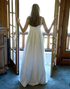 homemade white cotton wedding dress - simple and maybe just perfect for a vow renewal