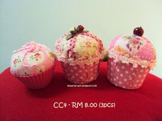 CRAFT GIRL: Fabric CUPCAKES - FOR SALE..