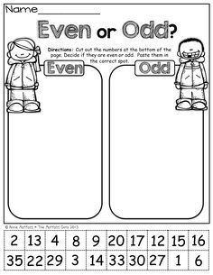 Even or Odd (cut and paste)