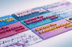 Business Cards made from melted crayons by Dorota Pankowska