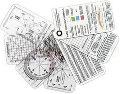 ESEE Knives Izula Gear Compass Cards, 7-Card Set