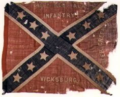 40th Alabama Infantry.  This flag was apparently issued to the 40th Alabama Infantry at Dalton, Georgia in May, 1864. In his account of the flag's history former Lt. Colonel Ezekiel S. Gulley stated that it was carried from the time it was issued until the end of the war. At the Battle of Bentonville, North Carolina, March 22-23, 1865 three flag bearers were shot down carrying the flag.