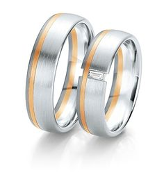 Breuning Trouwringen | black&white gouden ringen | 6mm briljant 0.06ct verkrijgbaar in 8,14 en 18 karaat | 48061130 / 48061140 #breuning #jdbw #trouwringen #breuningtrouwringen #gouden #goud #diamant
