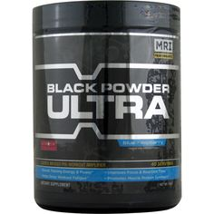 MRI Black Powder Ultra Blue Raspberry 40 svg 240 g | Regular Price: $59.99, Sale Price: $38.99 | OvernightSupplements.com | #onSale #supplements #specials #MRI #EnergyBooster  | 7x Performance AmplificationMRI Black Powder Ultra is a groundbreaking pre workout formula forged from the very latest in emerging research of performance nutrition Engineered to drive unprecedented workout proficiency Black Powder Ultra aggressively targets and engages 7 key factors that drive traini