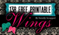 138 Free Printable Wing Designs, by Sweetly Scrapped