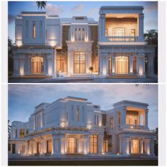 Awesome Modern House Design for Your Dream House Classic House Design, Modern House Design, Classic Architecture, Architecture Design, Residential Building Design, Dubai Houses, Modern Mansion, Mansions Homes, Villa Design