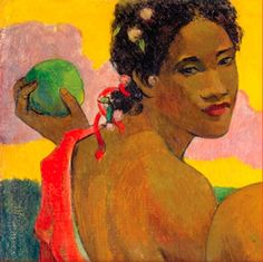 A portion of one of my favorite pieces by artist Paul Gauguin. I had the treat of seeing some of his work at the Seattle Art Museum last weekend. Paul Gauguin, Henri Matisse, Gauguin Tahiti, Seattle Art Museum, Impressionist Artists, Art Design, Painting & Drawing, Art History, Illustration Art