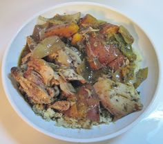 Crock Pot Jamaican Jerk Chicken Crock Pot Slow Cooker, Slow Cooker Recipes, Crockpot Recipes, Chicken Recipes, Cooking Recipes, Healthy Recipes, Jamaican Dishes, Jamaican Recipes, Jamacian Food