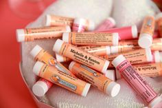 Wedding Lip Balm Favors Are Easy To Customize With Your Names And Date Shop Now For These Memorable Personalized Chapstick