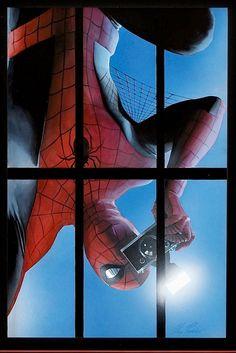 #Spiderman #Fan #Art. (Marvel Spider-Man) By: Alex Ross. (THE * 5 * STÅR * ÅWARD * OF: * AW YEAH, IT'S MAJOR ÅWESOMENESS!!!™)[THANK Ü 4 PINNING!!!<·><]<©>ÅÅÅ+(OB4E)   https://s-media-cache-ak0.pinimg.com/564x/d8/9e/f5/d89ef5fa8219cbdc978fd41e26e57a89.jpg