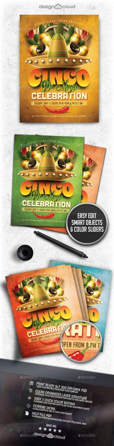 Buy Cinco De Mayo Celebration Flyer Template by Design-Cloud on GraphicRiver. Cinco De Mayo Celebration Flyer Template This fully editable flyer template is perfect for any Party, Personal, Club,. Event Flyers, Club Flyers, Halloween Flyer, Flyer Design Inspiration, Flyer Layout, Christmas Design, Holidays And Events, Flyer Template, Holiday Fun