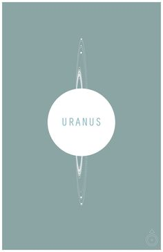 The Planets Series: Uranus and its Moons - Scientific Infographic Minimalist Poster Art. $18.00, via Etsy.