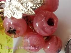 Купить Комплект Лесная ягода - розовый, комплект, комплект украшений, украшения лэмпворк, лесная ягода