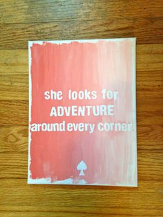 Kate Spade Ombre Canvas by CanvasesByMarilyn on Etsy, $25.00