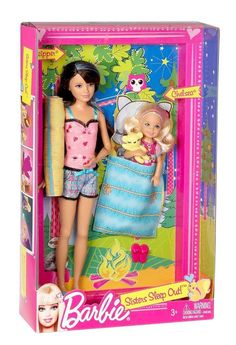 Barbie Sisters Sleep Out Skipper And Chelsea Doll 2-Pack Playset NEW IN BOX