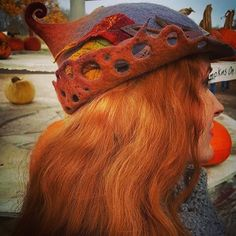 Donning my @lalabug.designs hat at a pumpkin farm today. Happy Halloween!