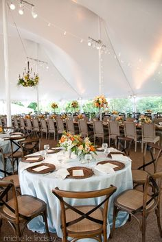 An Introduction to Tents for Your Backyard Wedding - white pole tent by Skyline Tents // Michelle Lindsay Photography
