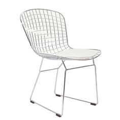LexMod Bertoia Style Side Chair with White Cushion LexMod http://www.amazon.com/dp/B0067P62YK/ref=cm_sw_r_pi_dp_olRnvb1565CXC