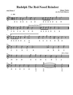 "rudolph the red nosed reindeer sheet music for sax | Sheet Music: ""Rudolph The Red-Nosed Reindeer"" by Scott Johnson, Jumbie ..."