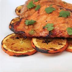 Grilled Orange Ginger Salmon recipe
