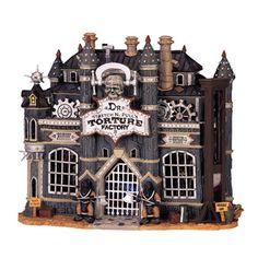Halloween Village Display / Lemax Spooky Town Display Lemax Spooky Town Torture…