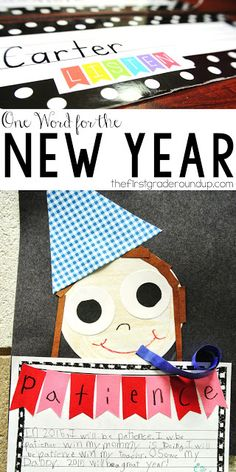 One word for the new year craftivity.  This is a simple way to have kids focus on one new year's resolution.