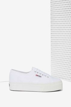 Superga Up and Down Platform Sneaker - White | Shop Shoes at Nasty Gal!