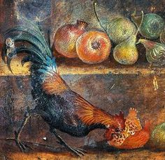Pompeii House of the Painters at Work http://nasossong.files.wordpress.com/2014/01/cock-pomegranate.png