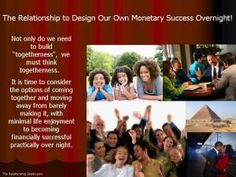 The Relationship To Design Our Monetary Success