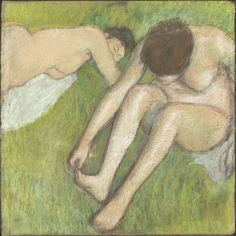 Degas, Bagnanti sull'erba, 1886-1890  pastello su carta; 70x70 cm  (RF29950)  © RMN (Musée d'Orsay) / Hervé Lewandowski  - Réunion des Musée Nationaux/ distr. Alinari