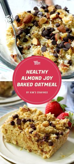 Eating a healthy breakfast doesn't mean forgoing taste, as this candy bar-inspired baked oatmeal recipe from Kim's Cravings proves.