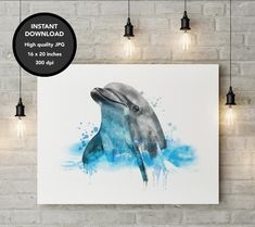 Excited to share the latest addition to my #etsy shop: Dolphin Watercolor, Dolphin Painting, Dolphin Gift, Dolphin Poster, Dolphin Print, Dolphin Aquarelle, Watercolor Animal, Nursery Decor http://etsy.me/2DaLMoe #art #printmaking #dolphinwatercolor #dolphinpainting #d