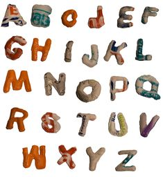 Michelle Mac created an alphabet out of an unexpected material - recycled plastic shopping bags