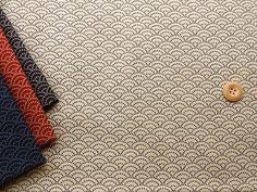▲和柄 - 商品詳細 和調プリント 青海波 112cm巾  綿100%/生地の専門店 布もよう