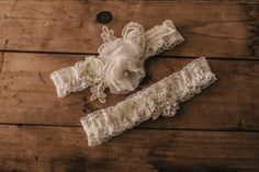 Wedding Garter Set / Bridal Garter Set / Lace Garter / Vintage-inspired Garter by VeilsAndHeadpieces on Etsy