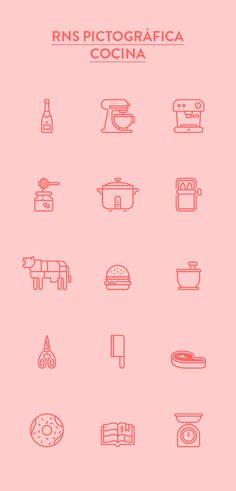 RNS Pictográfica Cocina by Yorlmar Campos, via Behance #icon #picto #symbol