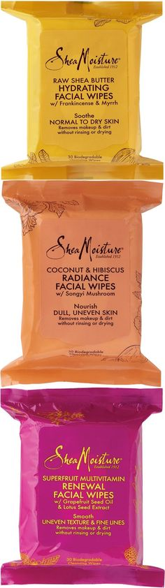 Shea Moisture Cleansing Wipes Arrive at Drugstores