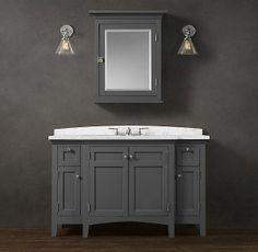 nautical bathroom vanities   Restoration Hardware: Cartwright Extra-Wide Single Vanity
