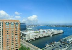 Make your getaway to Renaissance Boston Waterfront Hotel, a premier luxury destination located in Boston's vibrant Seaport District. Boston Harbor, Travel Gifts, Hotel Deals, Travel Usa, San Francisco Skyline, Renaissance, New York Skyline, Hotels