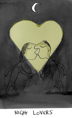 night lovers by Loui Jover    inks/paper