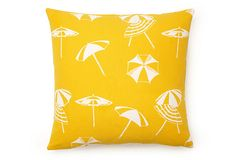 Umbrella 18x18 Outdoor Pillow, Yellow on OneKingsLane.com..Love IT