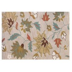 Home Decor | Tuscany Floral Loop Beige Rug - 5 Feet x 8 Feet | Home Depot Canada