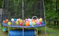 what could be more fun than bouncing with balloons?   so doing this for tooter's party.  i'm even excited about jumping.  so who want's to help blow them up? :)