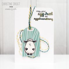 Guest Designer Christine from Create A Smile @ Twine It Up! with Trendy Twine made a super cute and fun card. She used Tickled with Teal and Lemon Tart Trendy Twine. http://shop.anniespaperboutique.com/