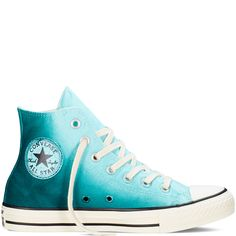 Converse Chuck Taylor All Star Sunset Wash – motel pool/rebel teal/egret Sneakers Converse All Star, Cool Converse, Outfits With Converse, Converse Chuck Taylor All Star, Chuck Taylor Sneakers, Converse Sneakers, Vans Shoes, White Converse Shoes, Custom Converse