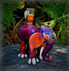 Amazing glass art! Elephant bong - Buy salvia, kratom, bongs and vaporizers online at http://www.buysalviaextract.com/