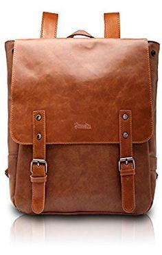 Amazon.com | Good&god Pu Crazy Horse Leather-Like Vintage Women's Backpack School Bag | Kids' Backpacks