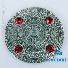 MacNaughton Clan Crest Plaid Brooch. Free Worldwide Shipping Available