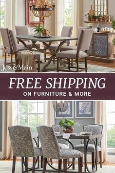 Make room for everyone with dining chairs for every style and budget! Browse styles ranging from traditional to modern to whimsical. Sign up now at jossandmain.com!